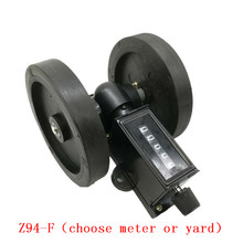 Mechanical Wheel Meter Counter 5 Digits Spinning Cable Plastic Film Leather Length Measurement Counter  (choose meter or yard)