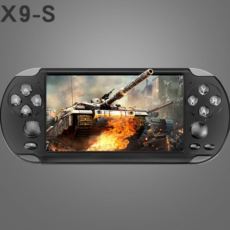 Game Consoles 8GB-PLAYER Rechargeable-Battery PSP 3d-Surround Handheld X9-S More Portable title=