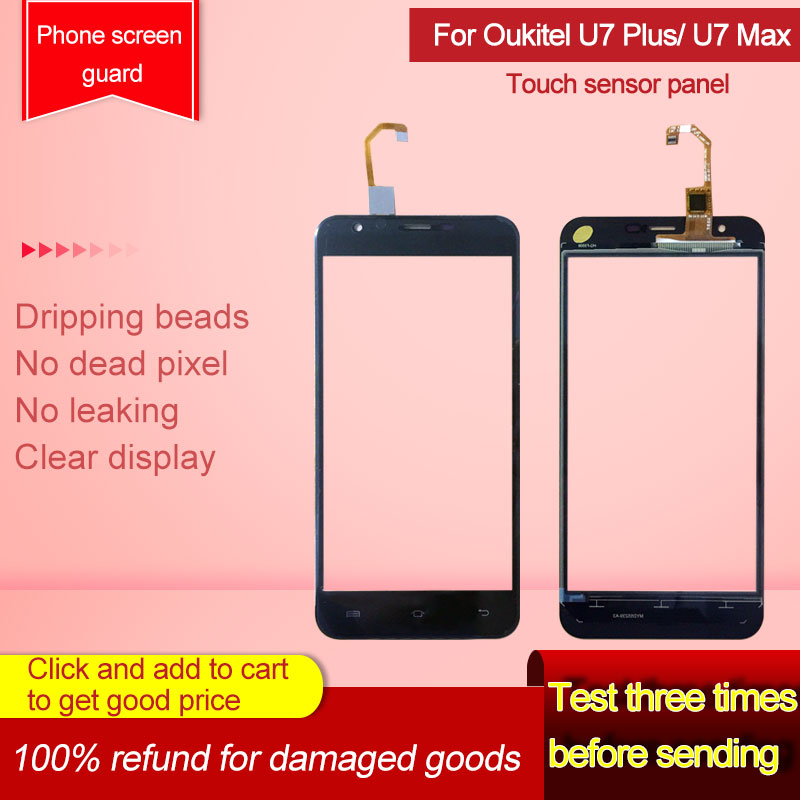 5.5'' Touch Screen For Oukitel U7 Max/U7 Plus Touch Screen Digitizer Panel Front Glass Lens Sensor No Lcd Display
