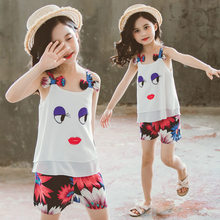 Get more info on the Girls Clothing Set Cute Big Eyes Girls Clothes Set Lovely Long Eyelashes Sleeveless Toddler Girl Tops + Pants Suit Kids Clothes