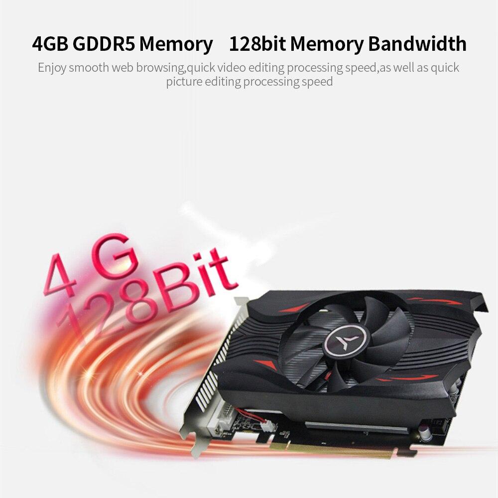 yeston RX560D-4G D5 Video Card Discrete Gaming Graphics Card 1176MHz/6000MHz 4G/128bit/GDDR5/DP+DVI-D+HDMI Desktop Video Cards 6