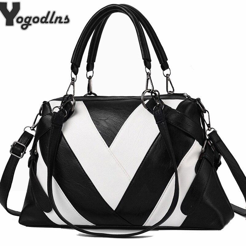 Patchwork Shoulder Bag Women Designer Handbag Bag Ladies PU Leather Crossbody Bag Female Solid Color Bag