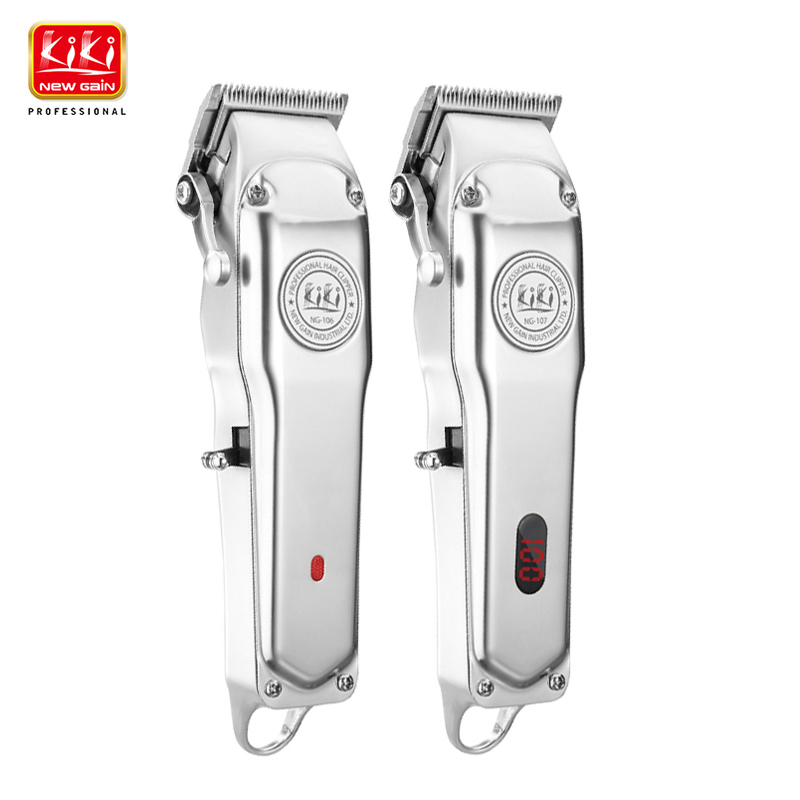 All-metal Rechargeable Hair Clipper With Guide Comb Set 6500 Motor And  Barber Cordless Hair Trimmer 1919