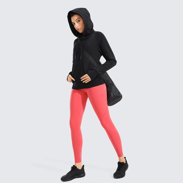 Drawstring Hooded Sweatshirt with Kangaroo Pocket