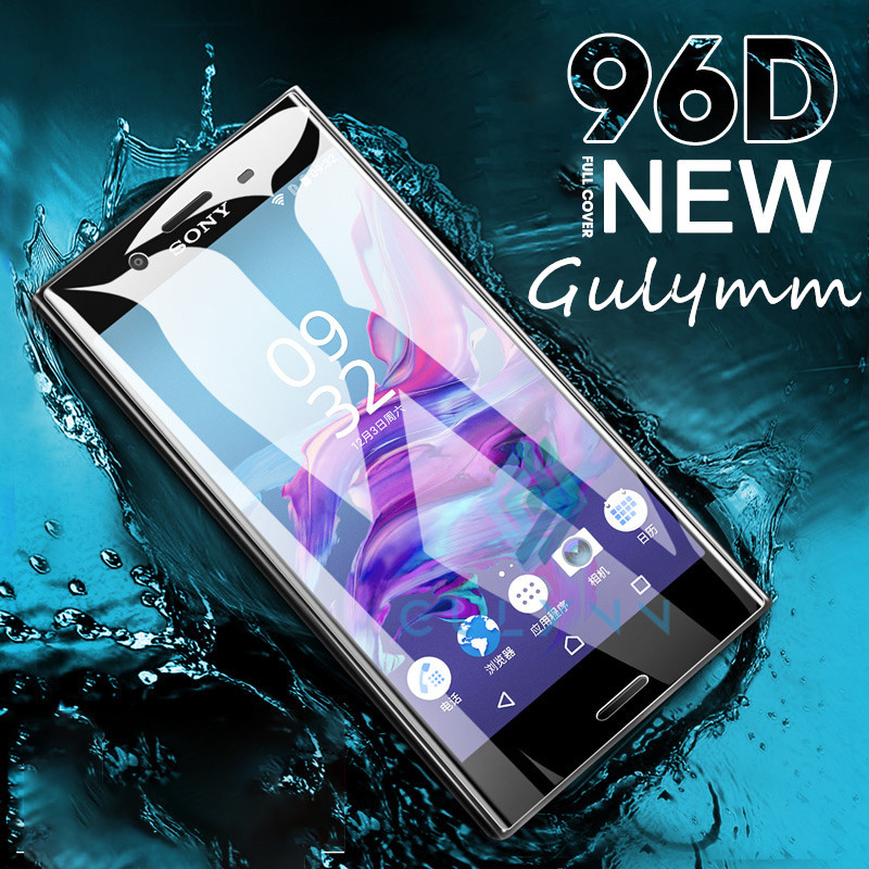 96D Curved Film For Sony Xperia XZ <font><b>1</b></font> 2 3 XA1 XA2 XZ2 XZ3 Ultra <font><b>10</b></font> Plus Compact Screen Protector Full Cover Nano Hydrogel Film HD image