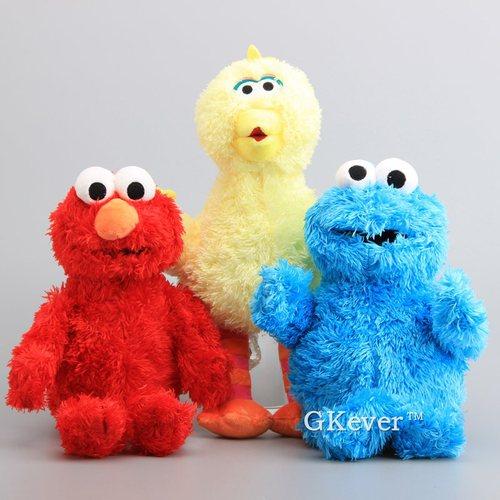 "Sesame Street TV Show Plush Toy Elmo Stuffed Animal Set of 2 Small 8/"" Gift"