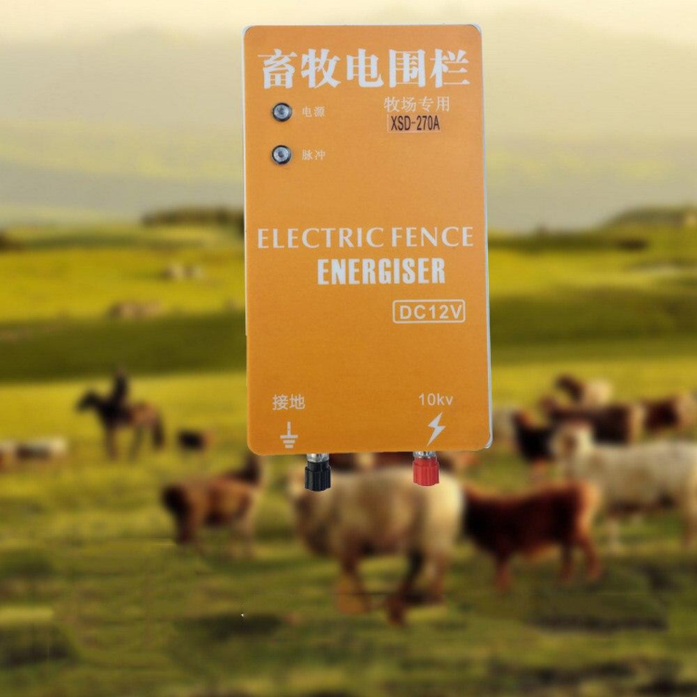 10 км солнечная электрическая изгородь Energizer Зарядное устройство высокого Напряжение импульсный контроллер животный Электрический забор д...