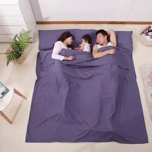 Image 1 - Sac de couchage léger doublure sac de couchage sac de couchage extérieur simple Double sac de couchage en plein air Camping hôtel feuille de voyage