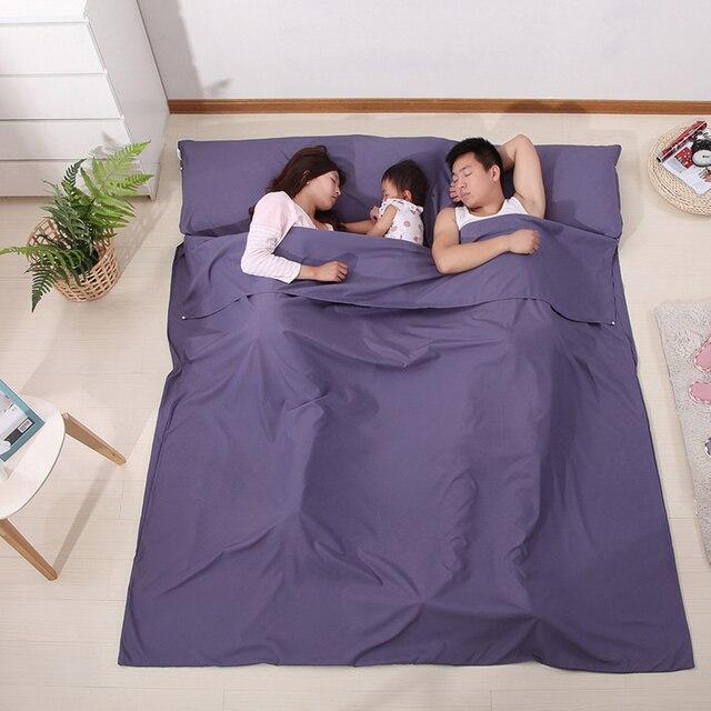 Sac de couchage léger doublure sac de couchage sac de couchage extérieur simple Double sac de couchage en plein air Camping hôtel feuille de voyage