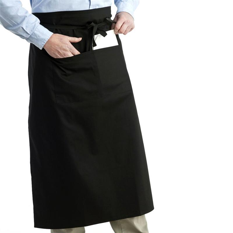 New Unisex Bar Cafe Work 3 Pocket Short Apron in Black Colours One Size