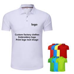 Изготовленная на заказ группа одежда фабрика короткий рукав быстросохнущая рубашка поло вышивка логотип текст мастерская рабочая одежда