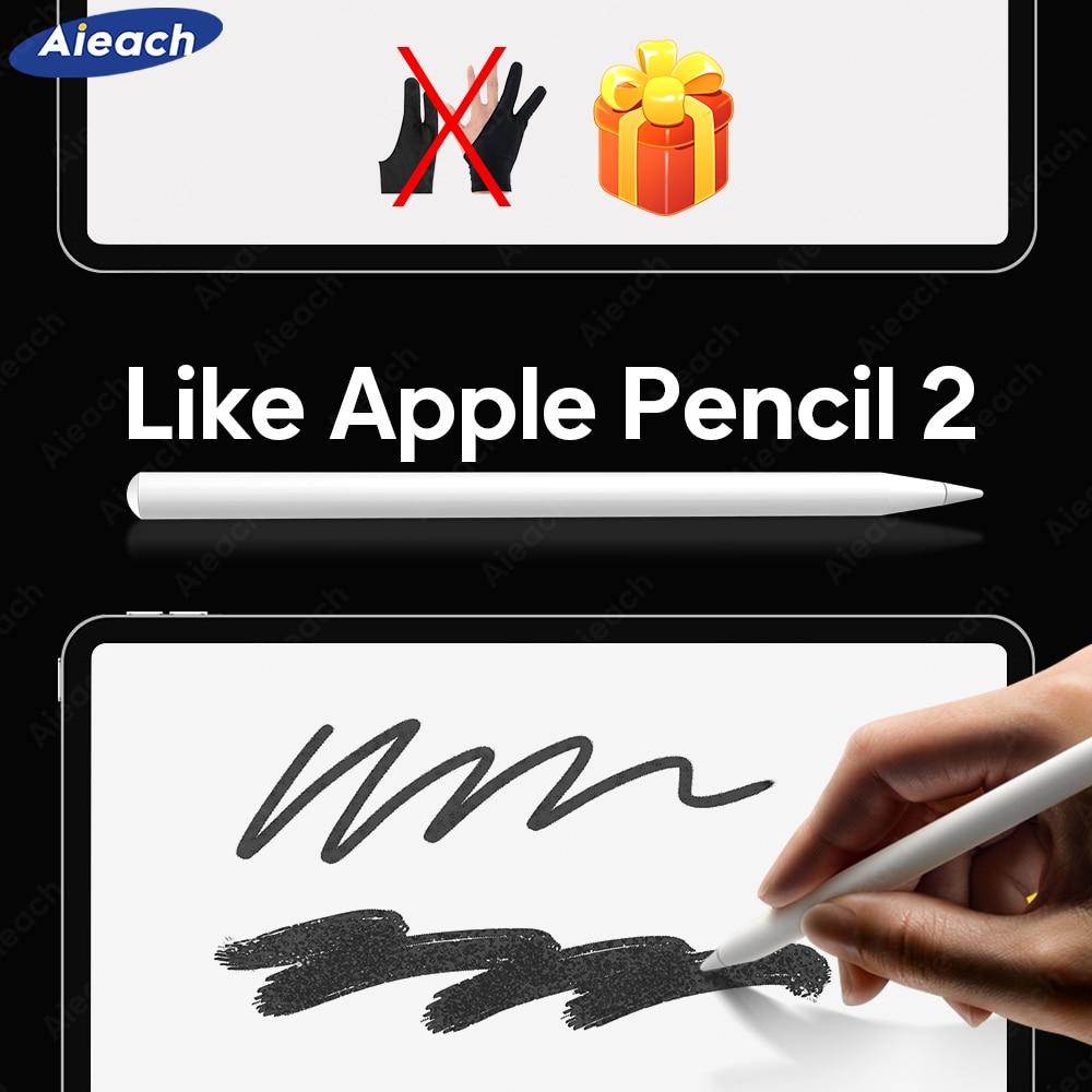 Para apple pencil 2 com rejeição palma tilt sensibilidade caneta stylus para ipad pro 11 12.9 2020 2018 2019 6th 7th 8th gen ar 3 4