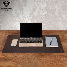 HUMERPAUL 100 skóra nubukowa podkładka pod mysz solidna podkładka pod mysz do klawiatury komputer biurowy podkład na biurko podkładka pod mysz myszy do gier Pad na laptopa tanie tanio Prawdziwej skóry Skóra bydlęca CN (pochodzenie) Stałe 0 79inch Akcesoria podróżnicze 35 4inch dg1002L 2 1kg cow leather
