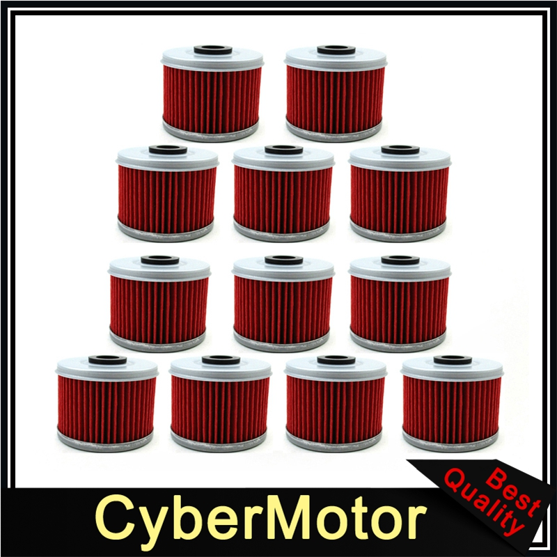 12x Oil Filter For Honda <font><b>ATC</b></font> CB 250 TRX 300 350 500 CB <font><b>400</b></font> VT125 CBF250 XL 125 image