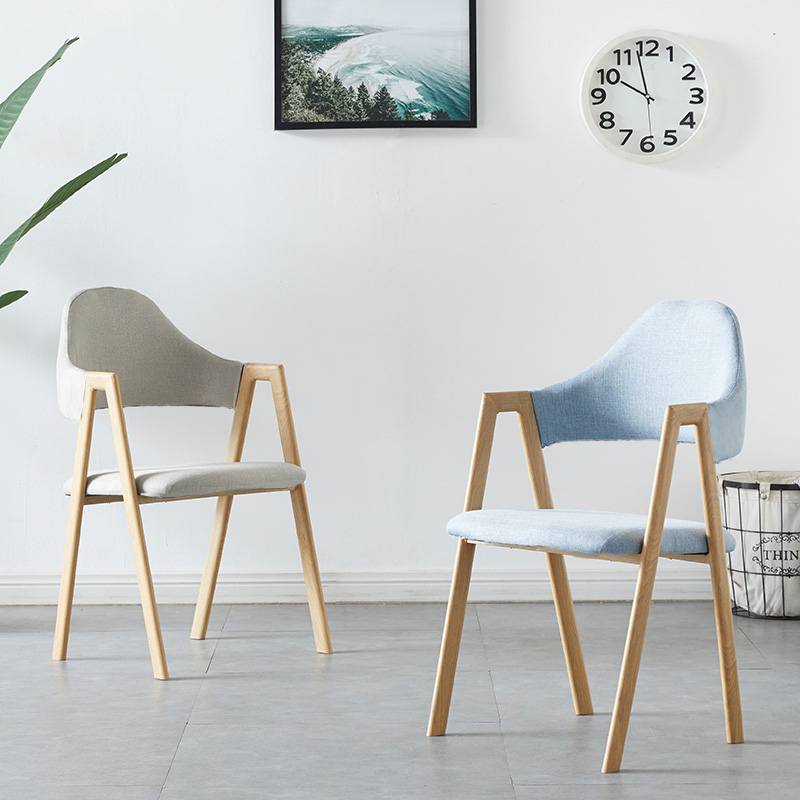 Modern Fashion Solid Wood Backrest A-head Chair Dining Chairs for Dining Rooms Living Room Furniture Bedroom Study Hotel Chairs