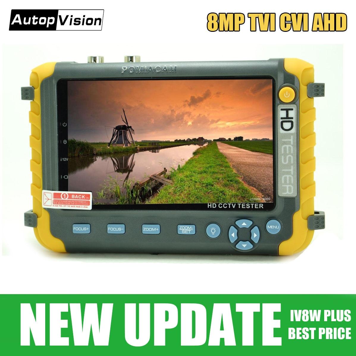 IV8W Plus 5inch Tester Monitor HD 1080P 8MP TVI 8MP AHD 8MP CVI CVBS Analog Security Video Monitor Tester VGA HDMI Input