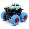 Синяя детская инерционная игрушечная Мини-машинка, детский грузовик, тянущаяся Игрушечная модель большого колеса с фрикционным приводом