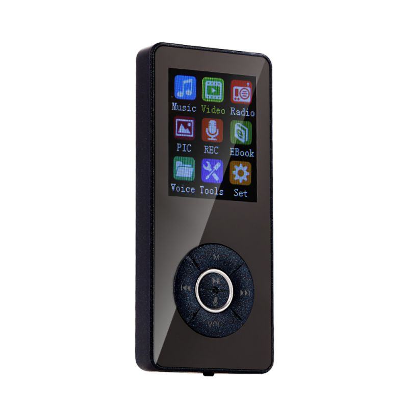 MP4 Music Player For Bluetooth 4.2, Mini Plug-and-play Anti-slip Voice Recorder With Memory Card Slot, 5 Keys