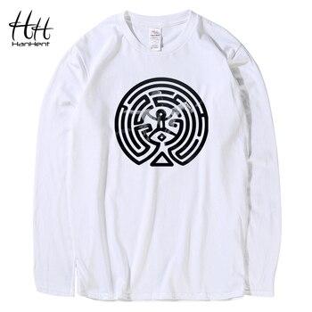 HanHent 2018 New Westworld Maze Printed T Shirts Men Short Sleeve O-neck Cotton West World Dolores Men Fashion T-shirt TV  Tees 2