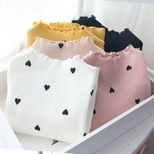 Г., новая зимняя футболка с длинными рукавами и круглым вырезом для маленьких девочек джемпер хлопковая Детская футболка с длинными рукавами