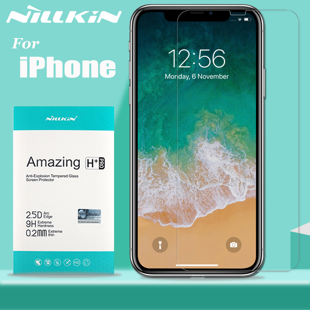 Nillkin Glass for iPhone 11 Pro Max X Xs Xr Screen Protector 9H Clear Safety Protective
