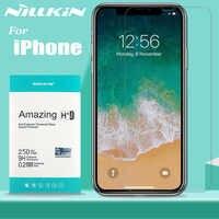 Nillkin vidrio para iPhone 11 Pro Max X Xs Xr Protector de pantalla 9H vidrio templado Protector de seguridad transparente para iPhone 8 7 6s 6 Plus