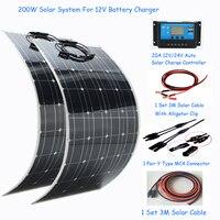 1000W solar energy whole solar system 100w flexible solar panel 200w 100w power home kit solar three types