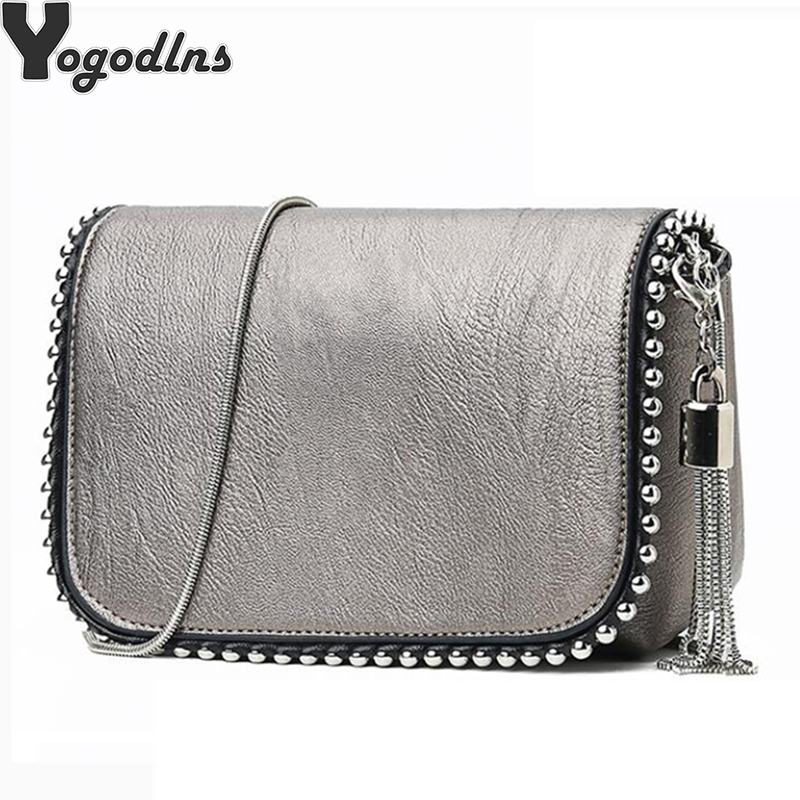 Women Messenger Bags 2019 Vintage PU Leather Shoulder Bag Crossbody Bags For Women Fashion Tassel Handbag Shoulder Female Bolsa