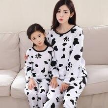 Пижамный комплект для мамы и дочки осень 2020 детская одежда