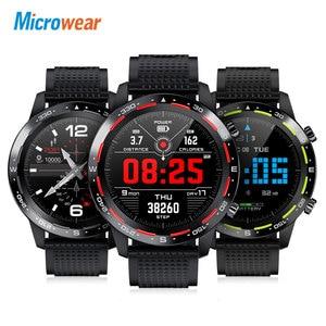 Image 2 - Microwear relógio smartwatch l12, bluetooth, chamadas, ecg + ppg, monitor cardíaco, pressão sanguínea, a prova d água ip68, novo, 2020 l7 l11