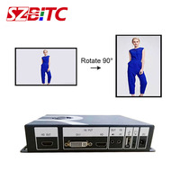 SZBITC Video Rotation Processor Video Rotation 90/180/270/360 degrees Support HDMI DVI USB AV Port With Remote Control For TV