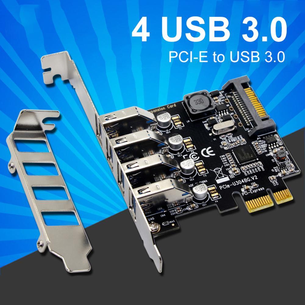 Carte d'extension 4 ports USB 3.0 PCI-e PCI express PCIe USB 3.0 adaptateur hub 4 ports USB 3 0 PCI e PCIe express