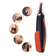 Electric Hair Removal Shaver Multifunction Micro Hair Trimer Ear Nose Eyebrow Trimmer LED Light Face