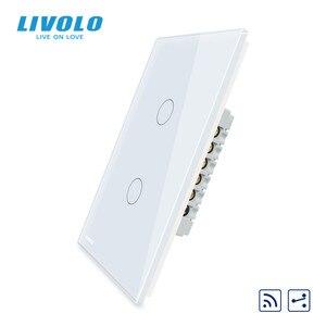 "Image 2 - Livolo יצרן, ארה""ב סטנדרטי, מגע מסך קיר אור מתג, 2 דרכים מרחוק צלב דרך מתגים, עמדה שונה שליטה"