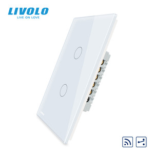 Image 2 - Livolo الصانع ، الولايات المتحدة القياسية ، شاشة تعمل باللمس الجدار مفتاح الإضاءة ، 2 طرق عن بعد عبر مفاتيح ، التحكم في موقف مختلف