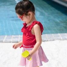 Купальник julysand для девочек дизайнерский красный Детский