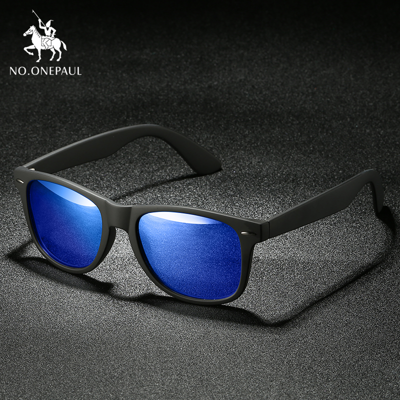 NO.ONEPAUL Sunglasses Men UV400 Polarized Square Metal Frame Male Sun Glasses Fishing Driving Sunglasses Brand NEW Fashion