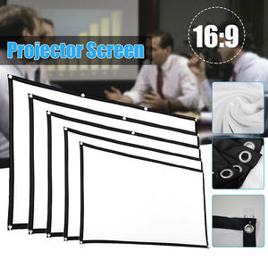 Curtain Projector-Screen Outdoor Portable Home Theater 3d HD KTV Office Simple