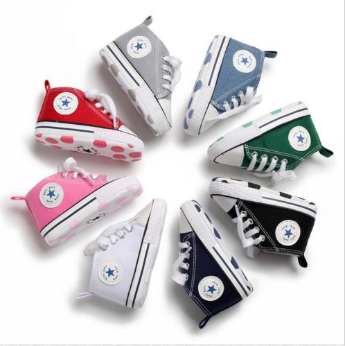 New Cute Toddler Baby Girl Shoes Newborn Infant Anti-slip Soft Sole Children Casual Canvas Shoes Prewalker