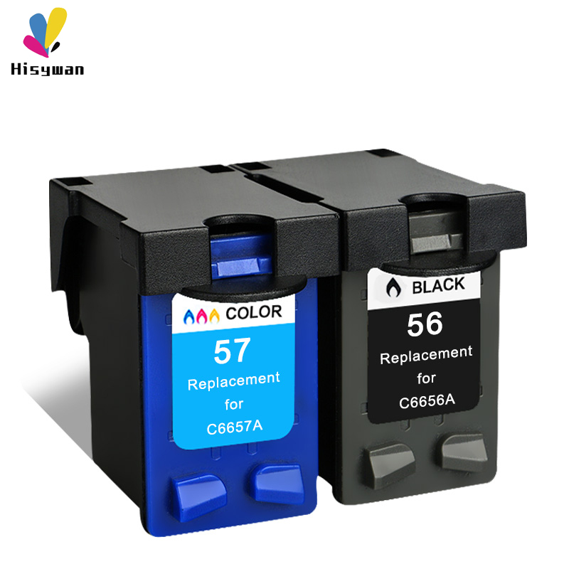 56XL 57XL Ink <font><b>cartridge</b></font> Compatible C6656A C6657A for <font><b>HP</b></font> Deskjet 450 450cbi 450ci 450wbt F4140 F4180 5150 <font><b>5550</b></font> printer image