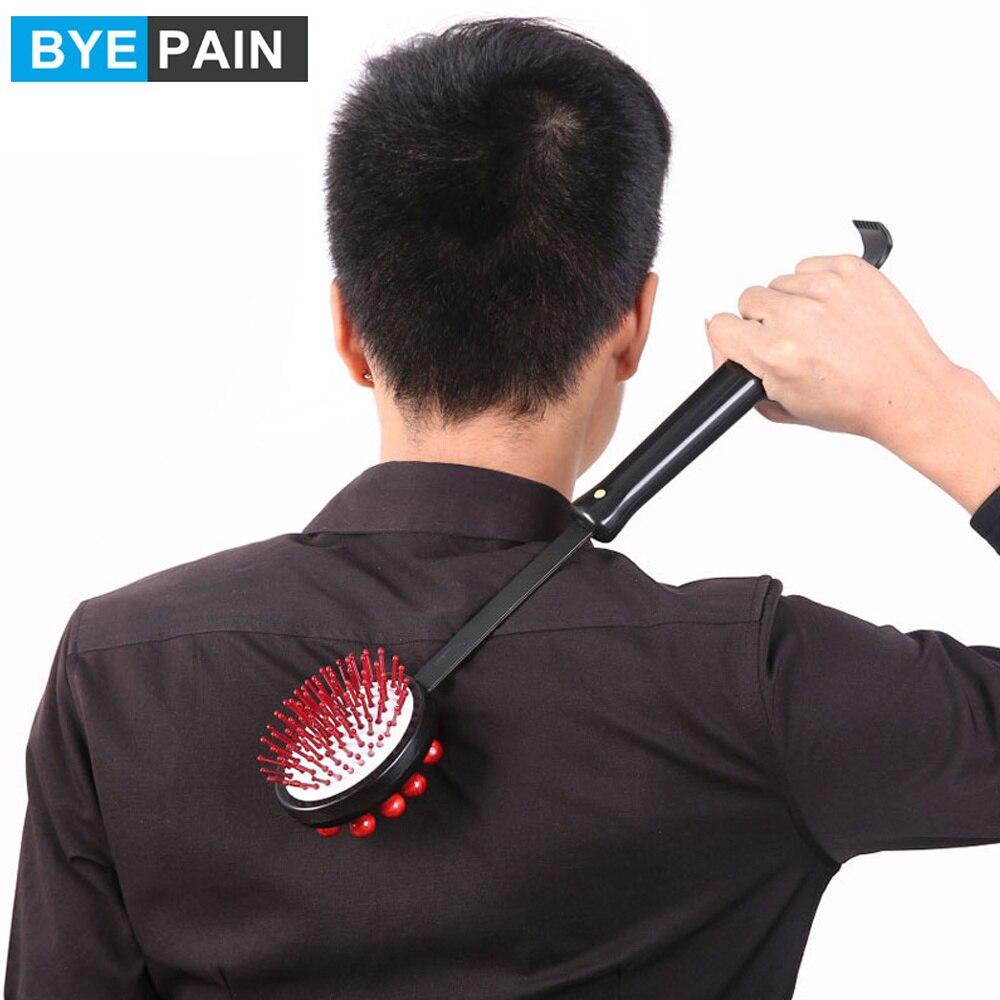 BYEPAIN массажный молоток для спины, снятия стресса и усталости, деревянная ручка для снятия царапин, расслабляющий массажер, инструмент для ух...