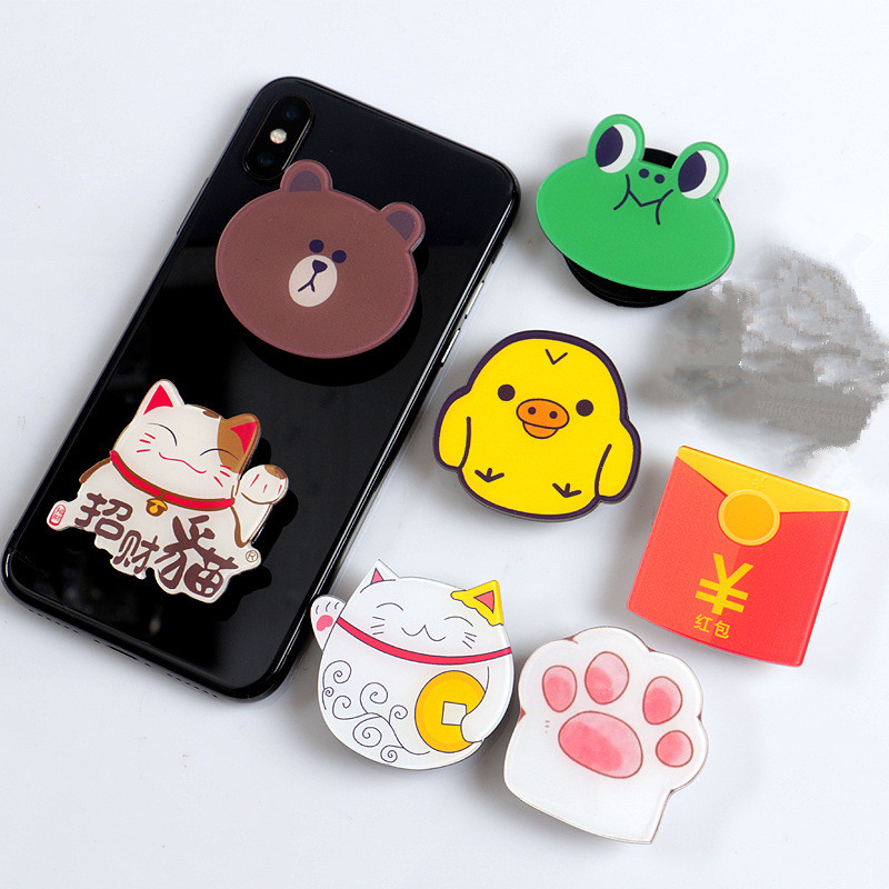 Popular Ring Expansion Rack Finger Stand Base Finger Top Stand Phone Holder Hot Selling Phone Stand Cartoon Airbag