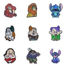 Metal Cute Cartoon Character Animal Enamel Brooch Pin for Women enamel lapel pin Hat Bag Jeans Pins Backpack Jewelry Gift Friend