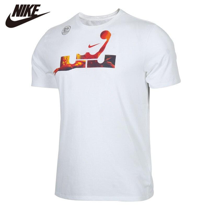 Original NIKE AS LBJ M NK DRY TEE 2 White Men's Tshirt Shirts New Arrival