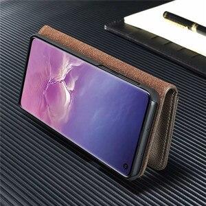 Image 5 - Caso di Cuoio di Vibrazione di lusso per Samsung Galaxy S20 Ultra S10 S9 S8 Più S7 Bordo di Carta Del Raccoglitore Della Copertura per Samsung nota 20 10 9 8 Coque