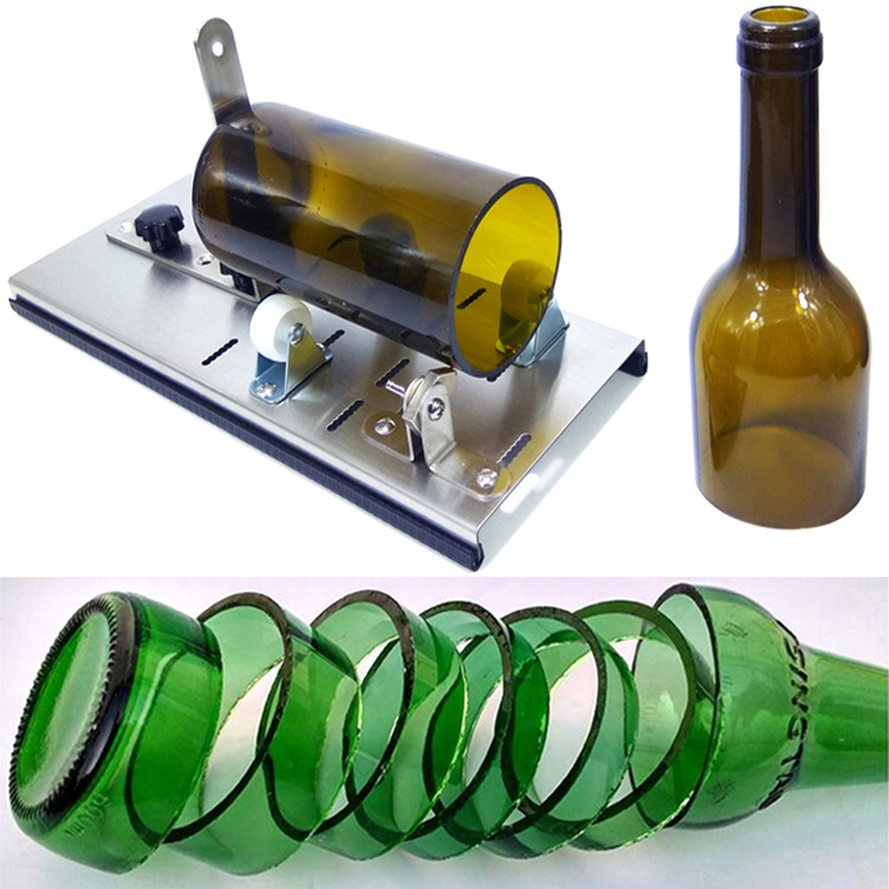 Professionele Glassnijder Steel 5 Wheel Uk Creative Glass Bottle Cutter Machine 2-11mm Diy Wine Bottle Lamp Cutting Tool Knife