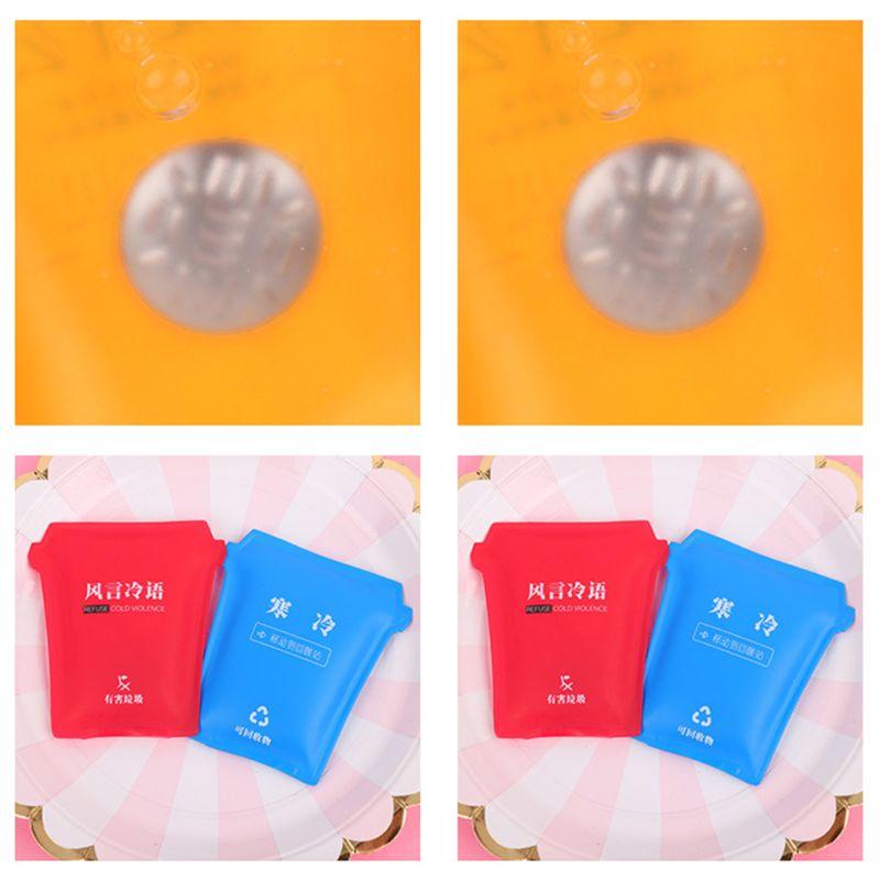 Mini Winter Reusable Gel Hand Warmer Cute Funny Word Print Instant Heating Pack 72XF