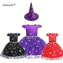Multicolor Girls Kids Dress Cosplay For Children Little Halloween Christmas Toddler Baby Tutu Dresses Party Costume Cloth