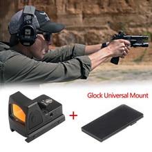 Mira Glock Micro Red Dot RMR, Mira de colimador, Airsoft, con Glock, montaje Universal, Rifle de caza, Mini mira óptica
