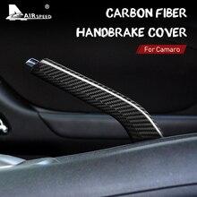 Hava hızı karbon Fiber için Chevrolet Camaro 2010 2011 2012 2013 2014 2015 aksesuarları araba el freni sapları iç kapak Trim